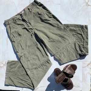 J Jill Green Cargo Pants Side Pocket  Women Size 8